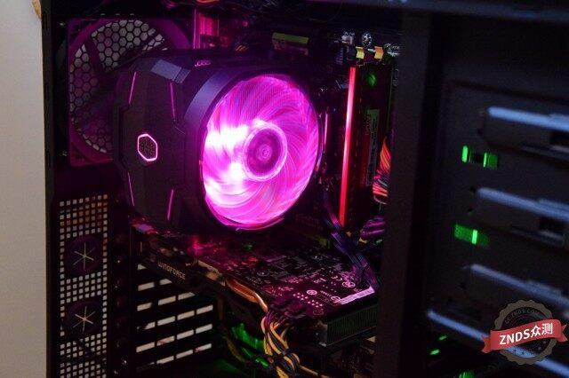 【ZNDS众测】双风扇的CPU散热器,与RGB灯效并重,酷冷至尊T610P不一样的散热效果
