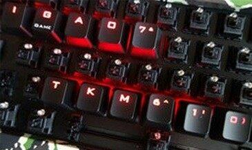 最爱那迷彩丛中的一抹红——评钛度TKM610机械键盘